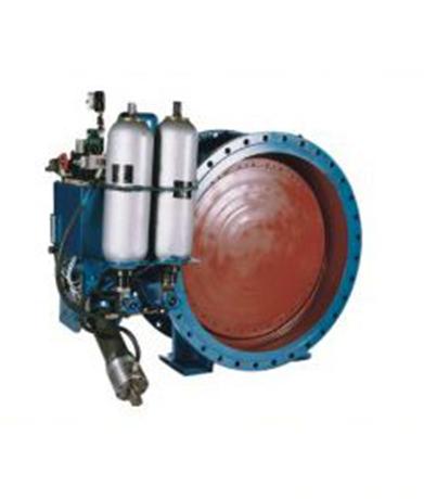 传动液压缸上设有快关时间调节阀,慢关时间调节阀和快,慢关角度图片
